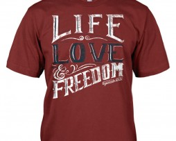 LIFE, LOVE and FREEDOM (Red)